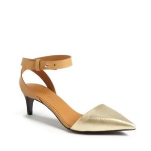 See by Chloe mid heel ankle strap pumps 37.5
